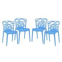 Kit 4 Cadeiras Azul Smug Travel Max -