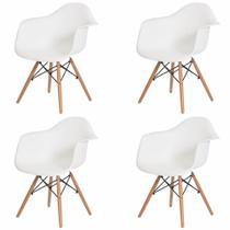 Kit 4 Cadeiras Charles Eames Sala de Jantar Cozinha Branca - Cadeiras Inc
