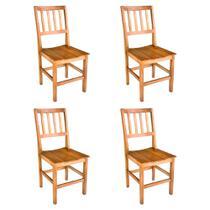 Kit 4 Cadeiras Confort Em Madeira De Lei Maciça - Viva