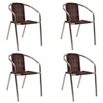 Kit 4 cadeiras para área externa júlia 99-005 - alegro -
