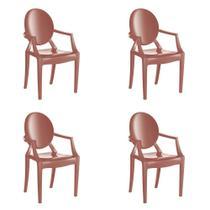 Kit 4 Cadeiras Wind Plus em Polipropileno Kappesberg - Terracota -