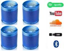 kit 4 Caixa Caixinha Som Portatil Via Bluetooth Mp3 Pendrive Pc - Q3