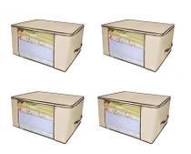 Kit 4 Caixa Organizadora Organizador Multiuso Tnt 60x45x30 Cm - Universal Vendas