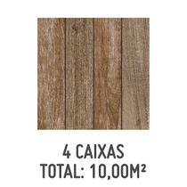 Kit 4 Caixas de Piso Madeiro HD 50x50cm com 2,50m² Marrom - Formigres