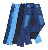 Kit 4 Calça Jeans Masculina Slim Com Elastano Lycra Atacado - Rt13 -