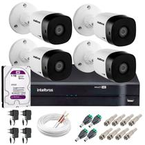 Kit 4 Câmeras de Segurança HD 720p 20m Infravermelho VHD 1120 B G5 DVR Intelbras + HD 1TB -