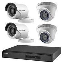 Kit 4 Câmeras de Segurança HD 720p Hikvision Com DVR 4 Canais Hikvision -
