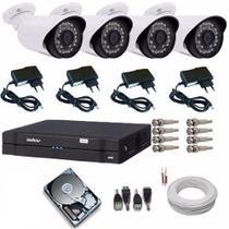 Kit 4 Câmeras De Segurança Residencial Dvr Intelbras 1004 G3 - Dvr intelbrás