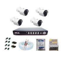 Kit 4 câmeras infra vermelho Gravador DVR 4 canais HD 160 GB - Trx