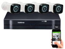 Kit 4 Cameras Segurança 720p Full Hd Dvr Intelbras 4ch S/hd -