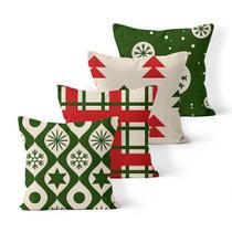 Kit 4 Capas de Almofadas Decorativas Own Estampas de Natal - Prego E Martelo