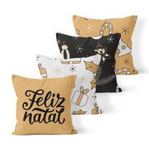 Kit 4 Capas de Almofadas Decorativas Own Feliz Natal e Enfeites - Prego E Martelo