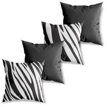 Kit 4 Capas de Almofadas Decorativas Zebra - Sweetsoft