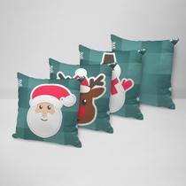 Kit 4 Capas para Almofadas Decorativas Cute Natal - Love Decor