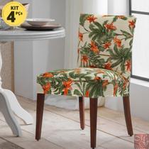 Kit 4 Capas Para Cadeira Estampada Malha Suplex Missoni - Adomes