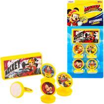 Kit 4 Carimbos Infantis Mickey E 1 Acessório Disney Junior - Etilux