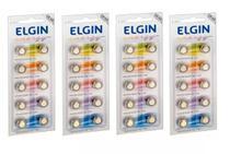 Kit 4 Cartelas Bateria Alcalina Lr54 / Lr1130 / AG10 Elgin (Cartelas c/10) -