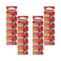 Kit 4 Cartelas Baterias Panasonic CR2025 3V 20 unidades -