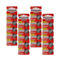 Kit 4 Cartelas Baterias Panasonic CR2032 3V 20 unidades - Yellow Cell