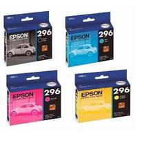 Kit 4 Cartuchos 296 T296 Epson Original Xp 231 Xp 431 Xp231 Xp431 K M C Y