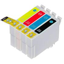 Kit 4 Cartuchos Compatíveis Epson T133 - Impressoras TX120 TX123 TX130 TX133 - World Cartuchos