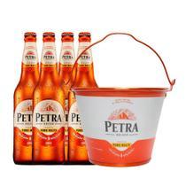 Kit 4 Cervejas Petra Origem Puro Malte 600ml + 1 Balde -
