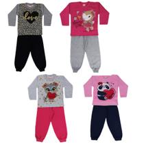 Kit 4 Conjuntos Moletom Infantil  Menina Atacado 1/2/3 - Duda Baby Shop