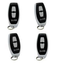 Kit 4 Controles Remoto Portão Automático New Back 433mhz Slim Chaveiro -