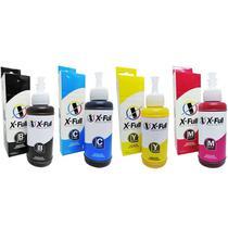 Kit 4 Cores de Tinta Sublimática X-Full para Impressoras da Série 664 com Refil 4x100ml -