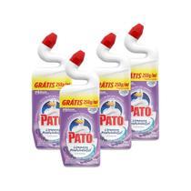 Kit 4 Desinfetante Pato Gel Uso Geral Lavanda Limpeza Profunda 750ml -