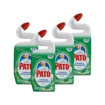 Kit 4 Desinfetante Pato Gel Uso Geral Pinho Limpeza Profunda 500ml -