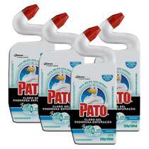 Kit 4 Desinfetante Pato Uso Geral Cloro Gel Marine 500ml -