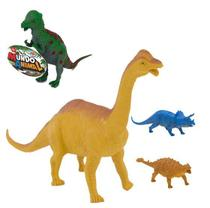 Kit 4 dinossauros mundo animal sortidos - Wellkids