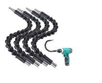 Kit 4 Eixos Flexíveis Chicote Para Parafusadeira 1/4 Strong -