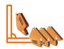 Kit 4 Esquadros Magnéticos Para Solda Angular para Serralheiro 12kg (75mm) Angulos 90 45 135 - Starfer
