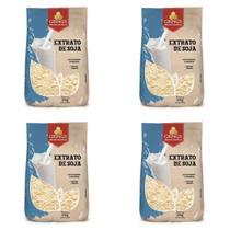 Kit 4 Extrato Soja Leite de Soja em Pó Vegano 500g Grings -