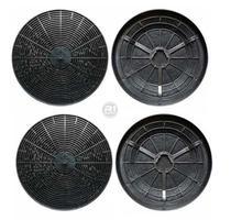 Kit 4 Filtros de Carvão Ativado  p/ Depurador Fischer Slim Original -