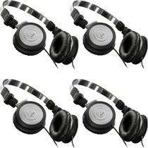 Kit 4 Fones de Ouvido Profissional AKG K414 P Mini Headphone Dobrável Para Retorno de Palco P2 K414P -