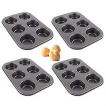 Kit 4 Formas de Assar Bolinhos e Cupcake 6 Cavidades  Rio Tijucas -