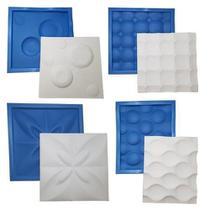 Kit 4 Formas de Plástico com EVA para Placas de Gesso - Xmoldes formas 3d