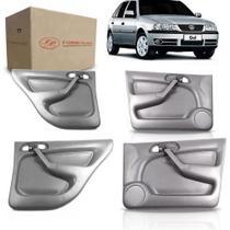 Kit 4 Forro Porta Gol/Par/Sav Bola 4P .G2/G3 98/2004 Cinza - Fomi-Plast