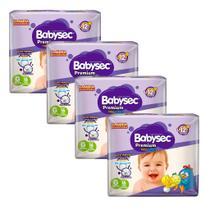 Kit 4 Fralda BabySec GALINHA PINTADINHA Premium - G - 64 unids - Experimente e se Surpreenda - Softys
