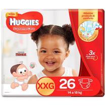 Kit 4 Fralda Descartável Infantil Mônica Supreme Care XXG 26 unidades - Huggies