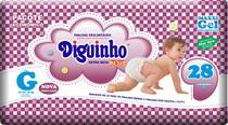 Kit 4 Fraldas Diguinho Plus Economica G - 28 Unidades -
