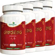 Kit 4 Ginseng Renshen (Panax) 400 mg 60 Capsulas Katigua -