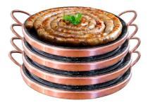 Kit 4 Grelhas Chapa De Pedra Sabão Para Carne 37 Cm Curada - Arte Nativa