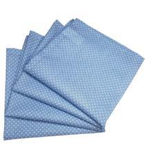 Kit 4 Guardanapos de Tecido Algodão Poá Azul 39cmx39cm - Maison Charlô