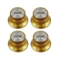 Kit 4 Knob PP-T43 Volume Dourado com Prata Les Paul SG Prs - Vines Music