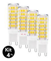 Kit 4 Lâmpada Led Halopim G9 5w P/ Arandelas E Lustres - Saime