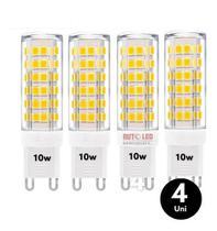 Kit 4 Lâmpada Led Luz Forte G9 10w P/ Arandelas E Lustres - Top Light